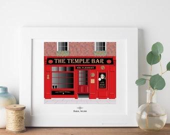 Ireland Travel Art Print - Temple Bar