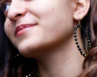 New Year party dangle earrings,Handmade jewelry,Boho large earrings,Vintage look,Handmade beaded earrings,Hippie style,Stylish earrings