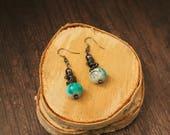 Teal Stacker Boho Earrings Bohemian Jewelry Hippie Jewelry Handmade Jewelry Boho Earrings Drop Earrings Earrings Boho Dangle