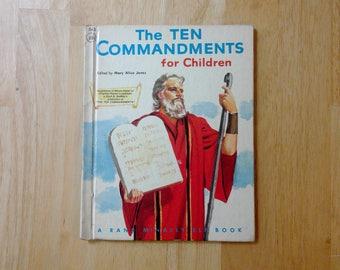 A Rand McNally Elf Book The Ten Commandments For Children 1956
