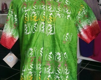African print batik shirt for men
