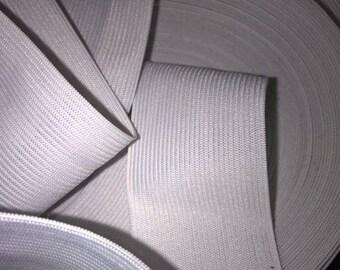 2 m elastic white collar 4 cm or 40 mm