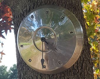 Vintage Ford Hubcap Clock