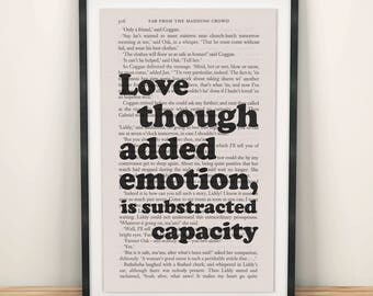 Far From The Madding Crowd Book Page Art Love Is Substracted Capacity Print