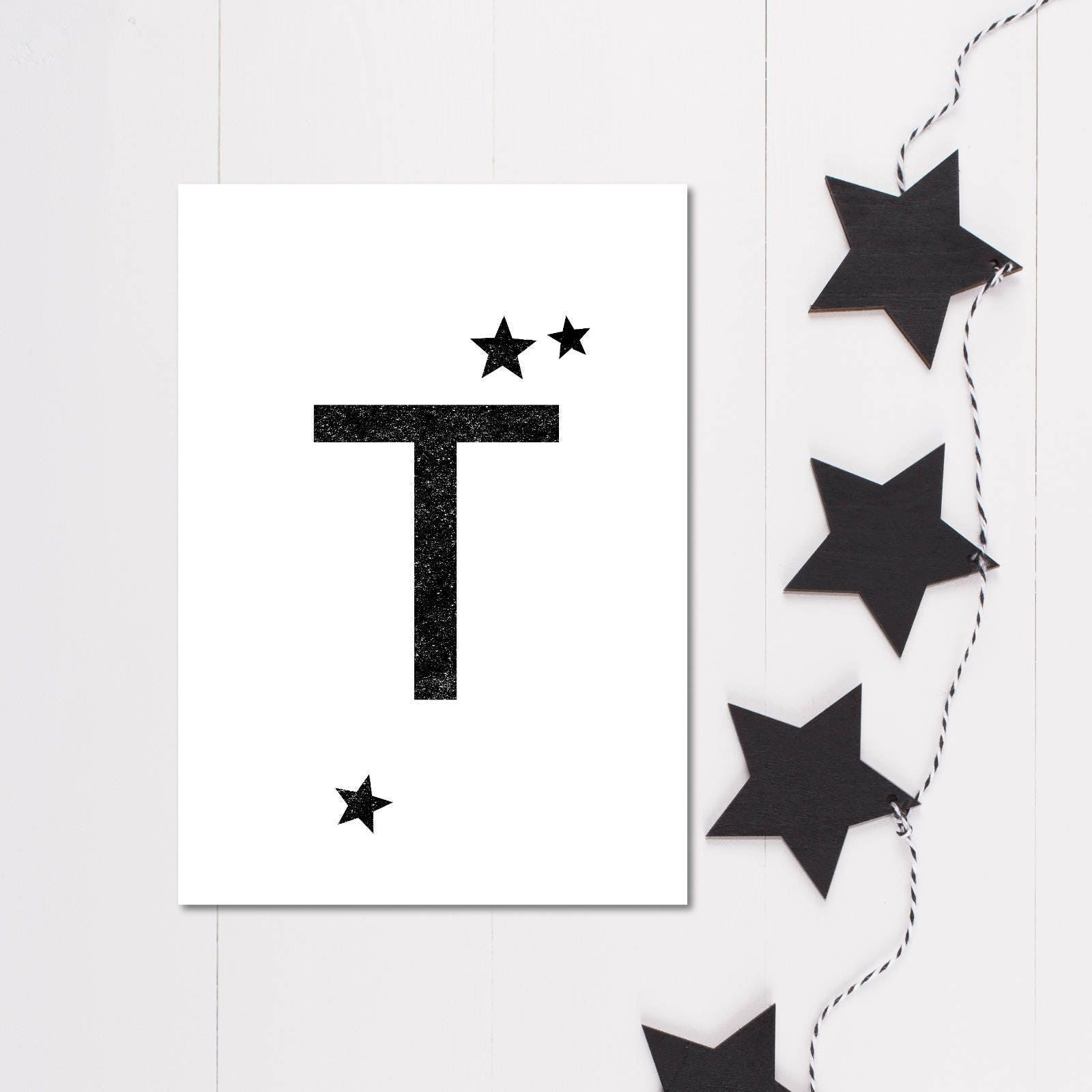 Minimalist decor workspace print letter print monochrome minimalist decor workspace print letter print monochrome typography black white wall art amipublicfo Image collections