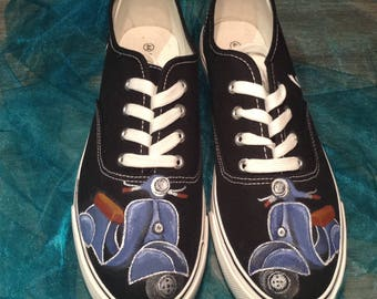 Handpainted shoes (Vespa)