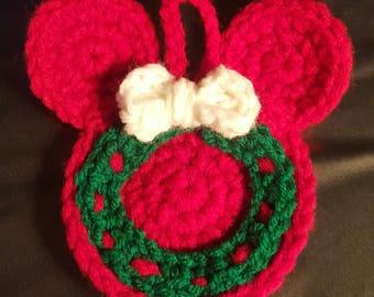 Mickey Inspired Christmas Ornament-Wreath