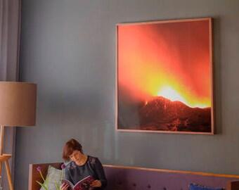 Digital Print- Erupting Erta Ale Volcano, Ethiopia