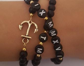 Beaded Bracelet Anchor