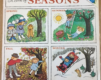 A Book of Seasons by Alice and Martin Provensen 1976 Please Read to Me vintage book