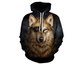 Wolf Hoodie, Wolf, Wolf Hoodies, Animal Prints, Animal Hoodie, Animal Hoodies, Wolves, Hoodie Wolf, Hoodie, 3d Hoodie, 3d Hoodies - Style 14