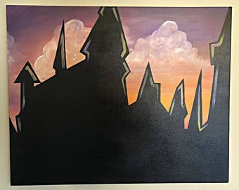 Hogwarts Castle painting