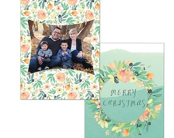 Christmas holiday card template photography digital file custom printable