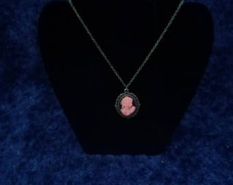 Pink and Black Cameo