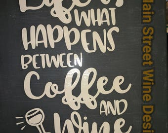 Life is what happens 10x10 canvas sign