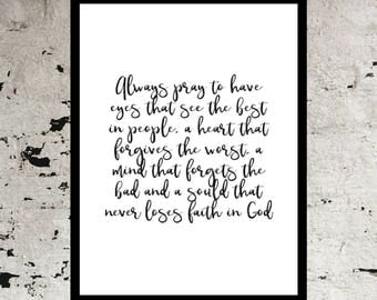 Printable quote wall art print, Madi Made Studio wall decor, calligraphy print, digital typography, hand written lettering