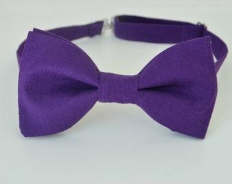 Purple bow tie-Boys bow tie-Adult bow tie-Purple Wedding bow tie-Men's bow ties-Grooms bow tie-Purple Groomsmen bow ties-Bowtie for man