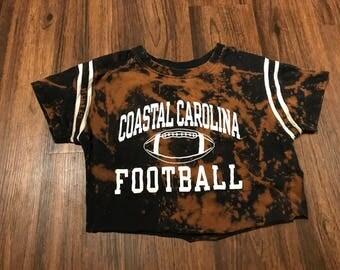 FADED Coastal Carolina Football Crop Tee