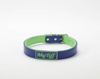My Bff Brazen blue Dog collar