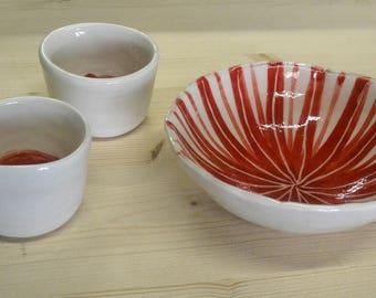 Bowl and cups.