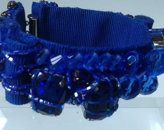Canetè bracelet with colored crystals and chatons
