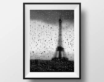 Eiffel Tower Paris Poster, Eiffel Tower Print, Decor, Eiffel