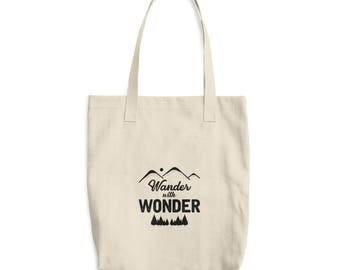 Wander with Wonder Cotton Tote Bag