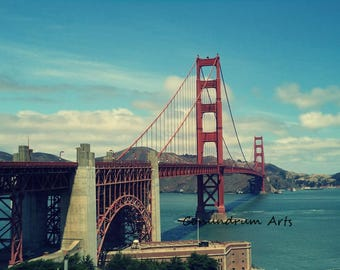 San Francisco Golden Gate Bridge Photo - Photography Wall Decor - Size 4x6, 5x7, or 8x10  Photo Print