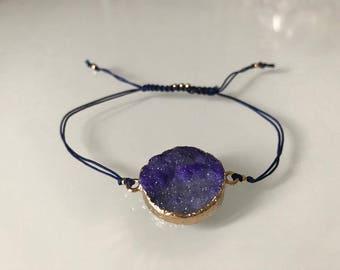 Onyx and carnelian stone bracelet