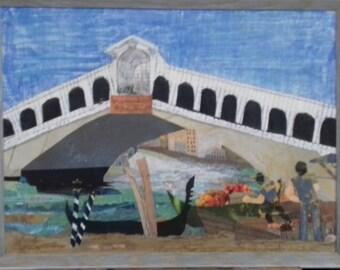 Loading market produce at Rialto Bridge, Venice