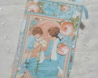 Travelers notebook insert/journal/graphic45/precious memories/blue/vintage/shabby chic
