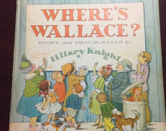 vintage Where's Wallace 1964 hard cover book