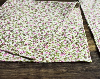 Burp Cloths   Pink/Green Floral