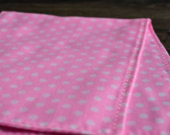 Burp Cloths | Pink Polka Dots