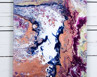 Fluid Art Original Painted Canvas