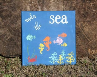 Under the sea wall hanging 10x10
