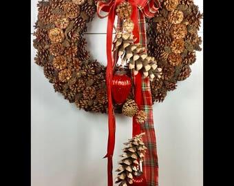 Wreath of mountain pine cones