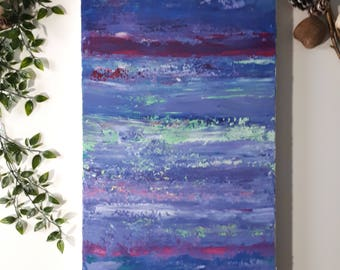 "Acrylic Abstract Art original Painting | ""Candy Sunset"" 15"" x 30"" Acrylic on Stretched Canvas Painting"