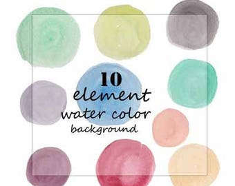 Watercolor washes and splotches | 10piece  | hand painted | clip art | elements in various shapes and sizes