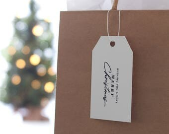 Holiday Gift Tags With Strings Printable Instant Download