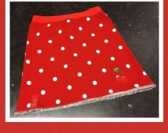 Polka dots skirt with cherries Mt. 134-140