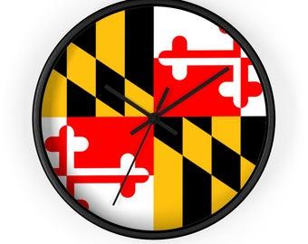 Maryland Flag Wall Clock