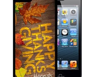 Rubber Case For iPhone X, 8, 8 plus, 7, 7 plus, 6s, 6s plus, 5, 5s, 5c, SE - Thanksgiving Leaves