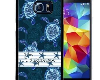 Personalized Rubber Case For Samsung S5, S6, S6 edge, S6 Edge Plus, S7, S7 Edge,  8, 8 plus -  Blue Turtle Starfish