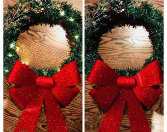 Red Bow Wreath