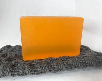 juicy mandarin hand crafted soap bar