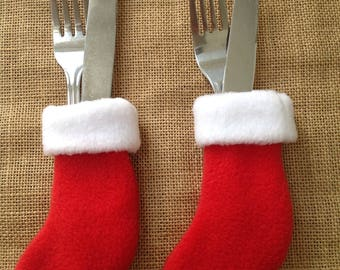 Christmas Stocking Cutlery Holders