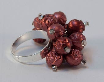 Paint The Roses Red - Red Rose Bouquet Ring