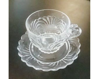 Cambridge Caprice clear cup & saucer