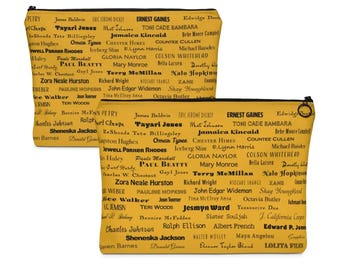 Black Fiction Writers Accessory Pouch // African American Authors // Literature // Book Lovers // Toni Morrison // Writer Names // Bookish